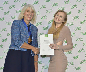 Gemma honoured at London AAT achievement ceremony