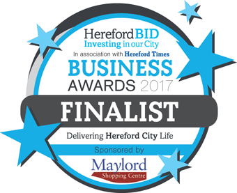 BBR delight at being named finalist for two Hereford BID Business Awards